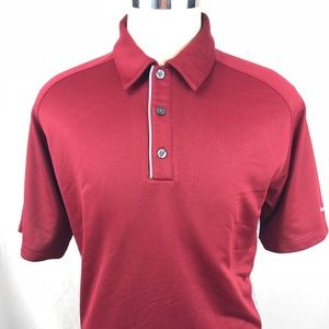 Men's Large Nike sphere react red polo shirt